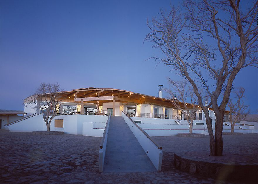 Germán del Sol, Hotel explora Atacama, exterior at dawn