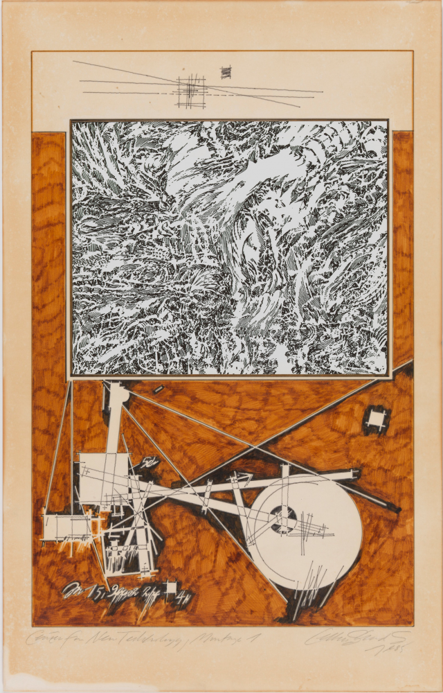 Lebbeus Woods, Centre for New Technology, Montage 1, 1985