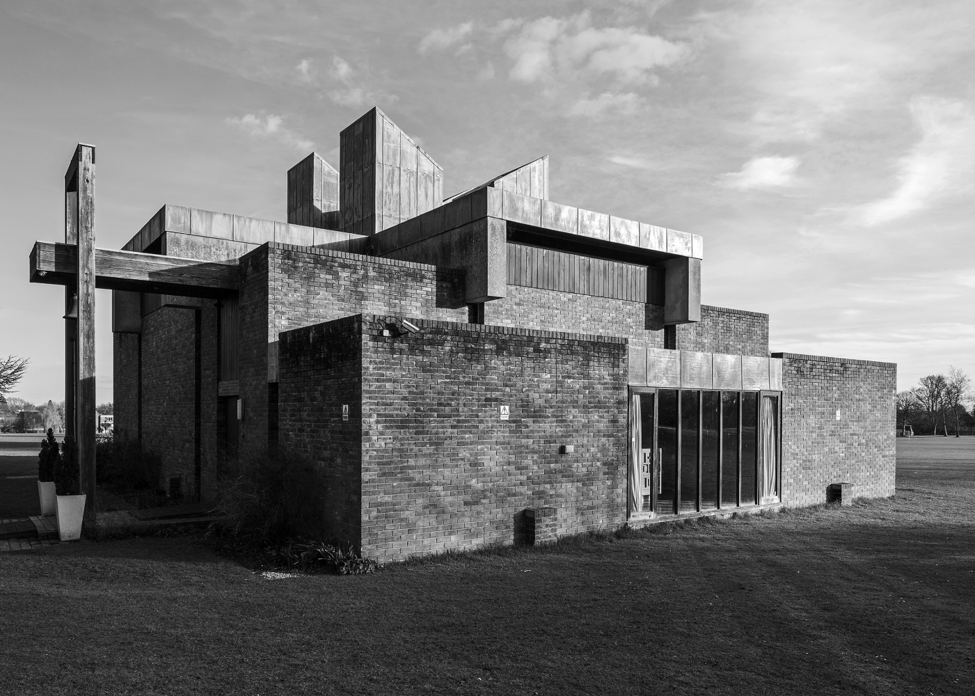 Sheppard Robson, Kirche des Churchill College, Cambridge, 1967